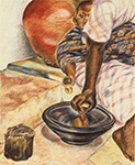 Ghana food preparation 1990